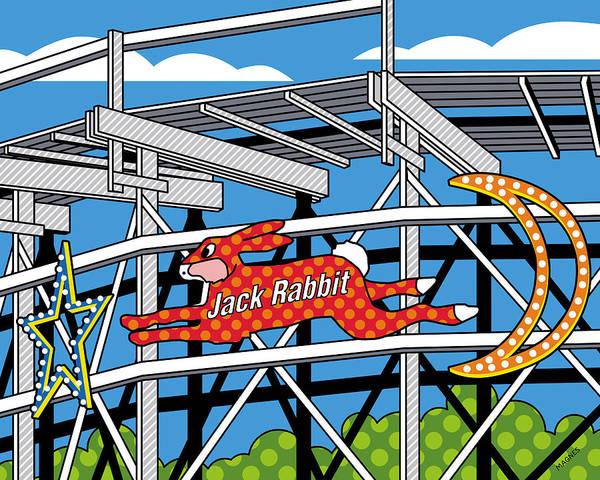 Jack Rabbit Print featuring the digital art Jack Rabbit by Ron Magnes