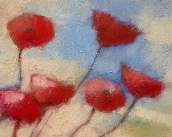 Impressionism Art Print featuring the painting Poppies by Lutz Baar
