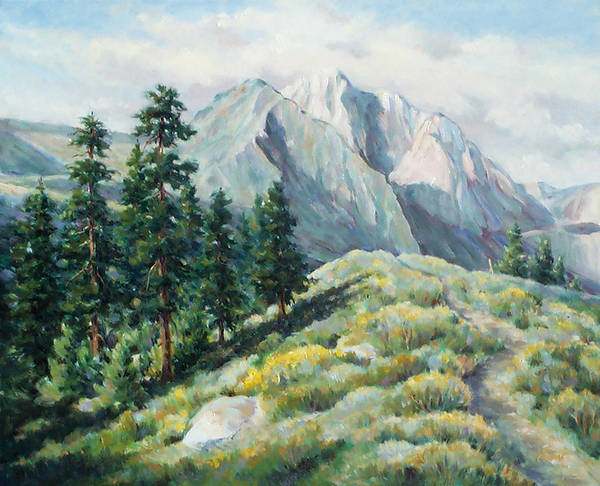 Landscape Art Print featuring the painting Convict Lake Guardians by Don Trout