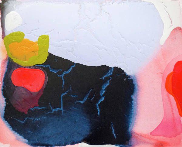Abstract Art Print featuring the painting Maya 01 by Claire Desjardins