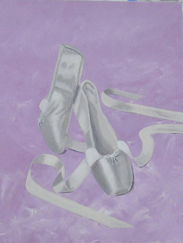 Ballet Art Print featuring the painting Let's Dance by Judy-Joy Bell
