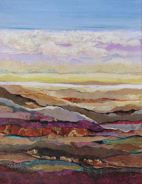 Southwest Mixed Media Art Print featuring the painting Arizona Reflections Number Four by Don Trout