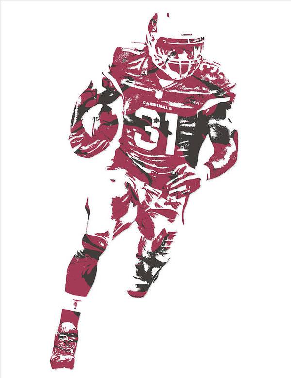 David Johnson Arizona Cardinals Pixel Art 2 by Joe Hamilton