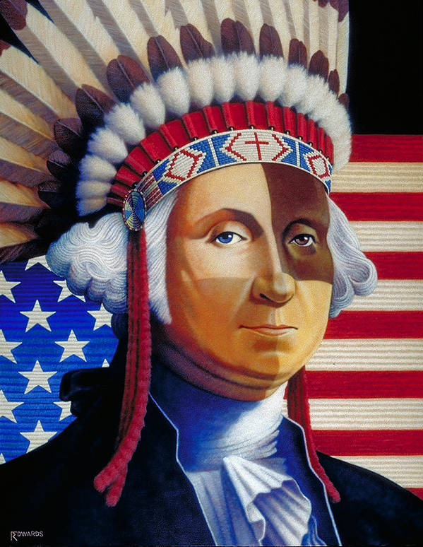 George Washington Art Print featuring the painting Father Of The Nation by Ross Edwards