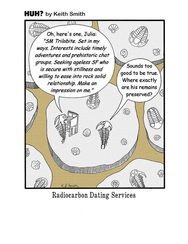 Art Print featuring the drawing Radiocarbon Dating by Keith Smith