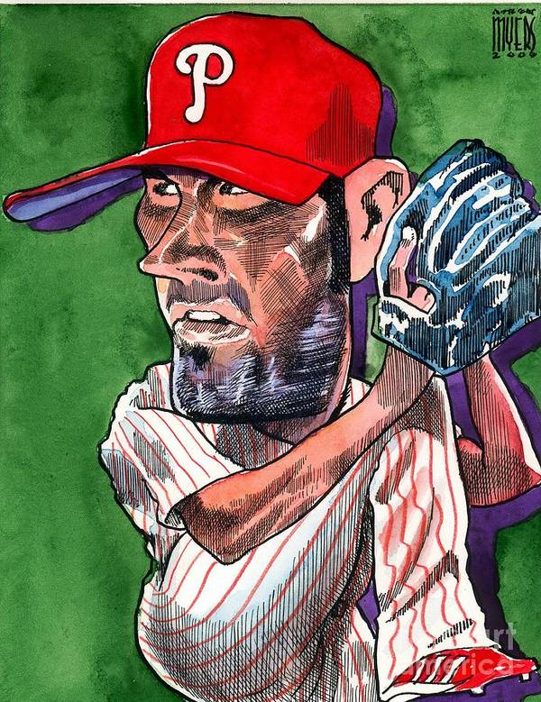 Phillies Art Print featuring the painting World Series Mvp by Robert Myers