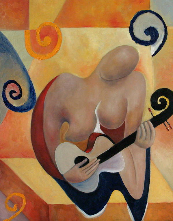 Music Art Print featuring the painting Gypsy Blues by Niki Sands