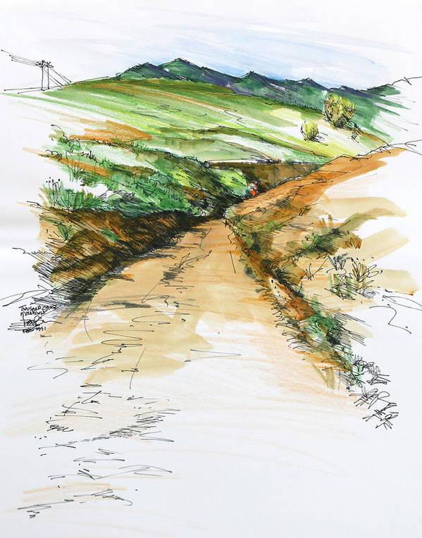 Thousand Oaks CA - Mtn. Dirt Trail by Robert Birkenes