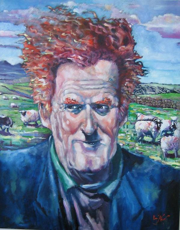 Ireland Art Print featuring the painting The Mayo Shepard by Kevin McKrell