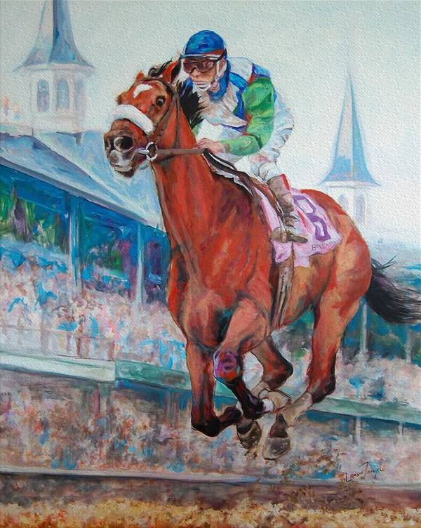 Barbaro Print featuring the painting Barbaro - Horse Of The Nation by Leisa Temple