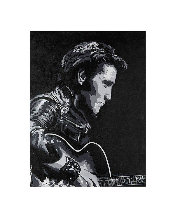 #art #artist Art Print featuring the painting Elvis 1963 Comeback Show by Jeleata Nicole