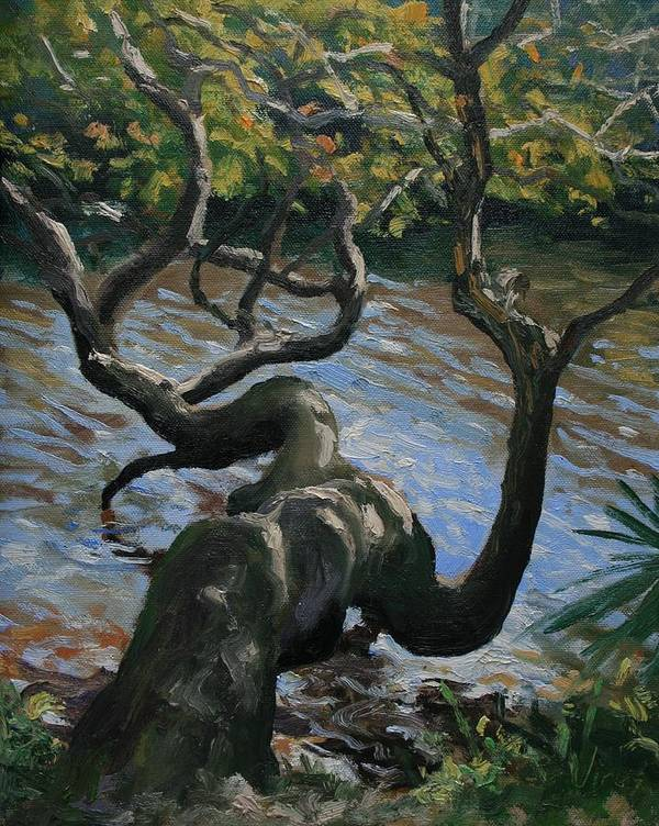 Oil Painting Art Print featuring the painting Hanging Out by Michael Vires