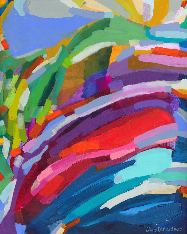 Abstract Art Print featuring the painting Felicity by Claire Desjardins