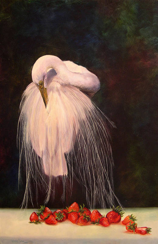 Bird Art Print featuring the painting Wild And Sweet 1 by Valerie Aune