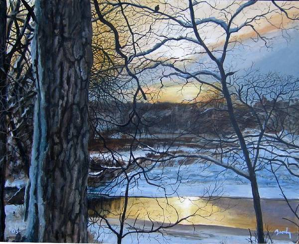 Landscape Art Print featuring the painting The Watcher by William Brody