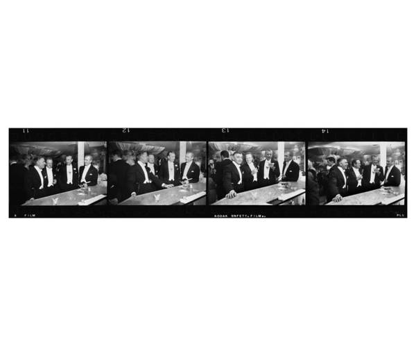 Jimmy Stewart Art Print featuring the photograph Four Kings Of Hollywood by Slim Aarons