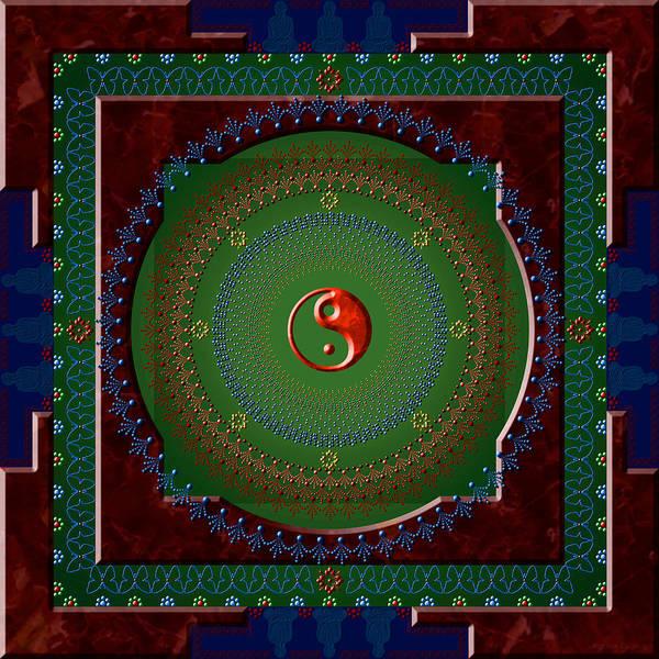 Mandala Art Print featuring the digital art Yin Yang by Stephen Lucas