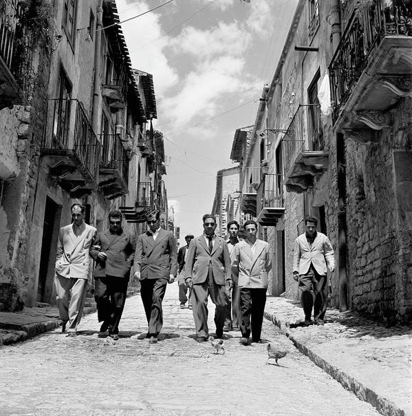 Sicily Art Print featuring the photograph Lucky Luciano by Slim Aarons