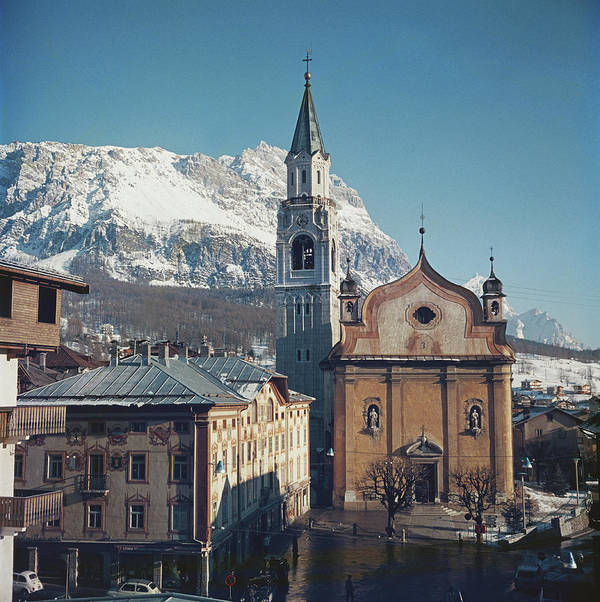 European Alps Art Print featuring the photograph Cortina Dampezzo by Slim Aarons