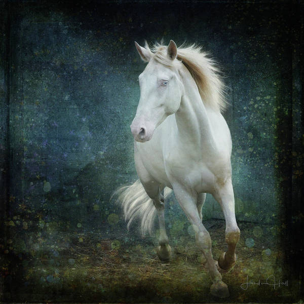 Horse Art Print featuring the digital art A Little Bit of Flash by Linda Lee Hall