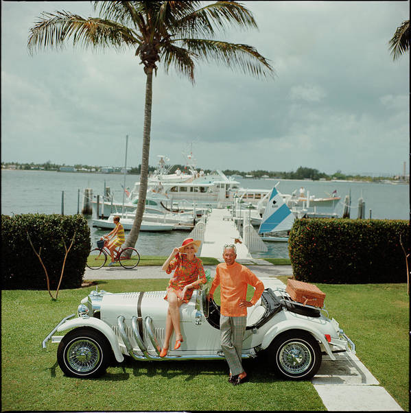 People Art Print featuring the photograph All Mine by Slim Aarons