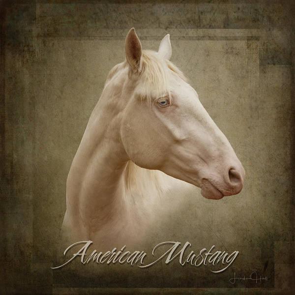 Horses Art Print featuring the digital art American Mustang by Linda Lee Hall