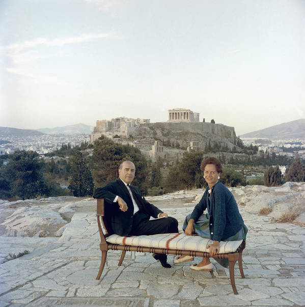 People Art Print featuring the photograph Ancient Greek Furniture by Slim Aarons