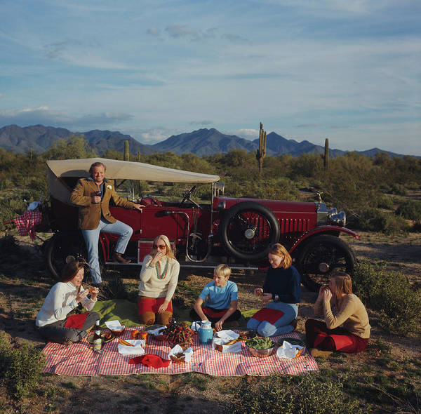 People Art Print featuring the photograph Barrett Family Picnic by Slim Aarons