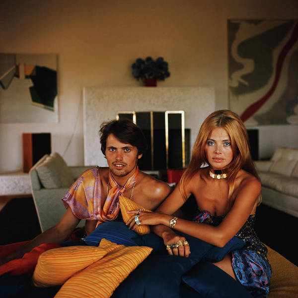 Actress Art Print featuring the photograph Britt And Her Brother by Slim Aarons