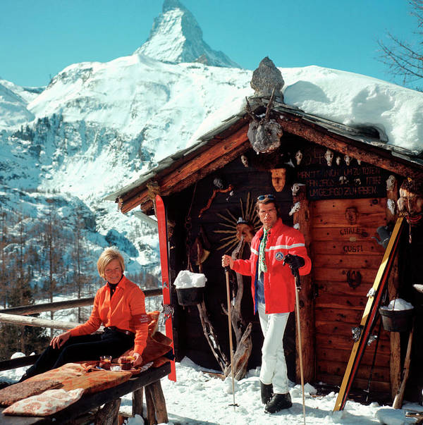 Skiing Art Print featuring the photograph Chalet Costi by Slim Aarons