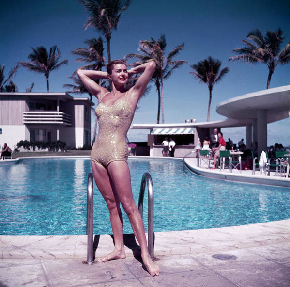 Esther Williams Art Print featuring the photograph Esther Williams In Florida by Slim Aarons
