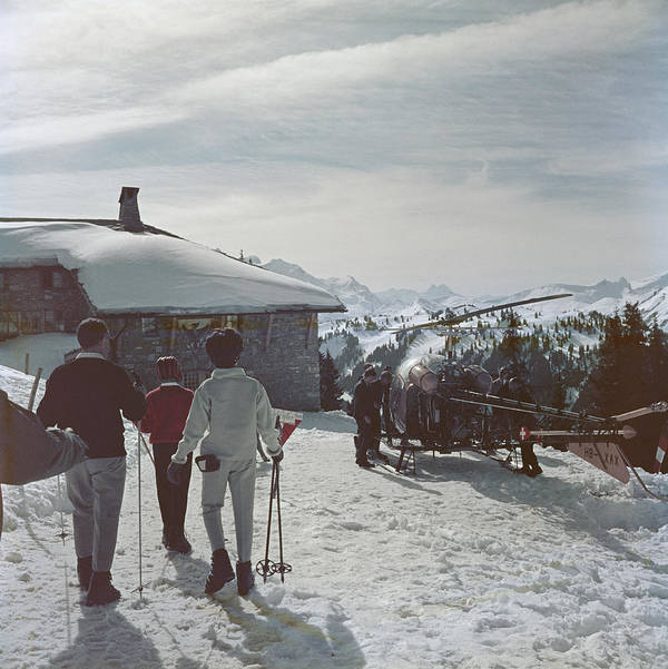 Gstaad Art Print featuring the photograph Gstaad by Slim Aarons