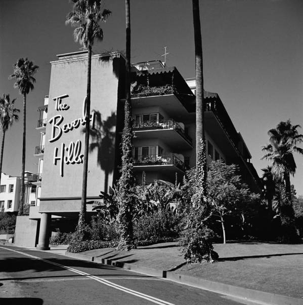 Shadow Art Print featuring the photograph La Hotel by Slim Aarons
