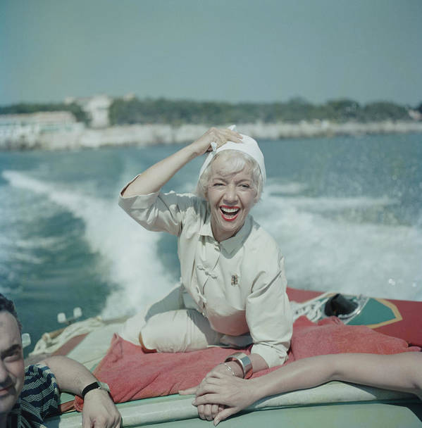 1950-1959 Art Print featuring the photograph Lily On The Riviera by Slim Aarons