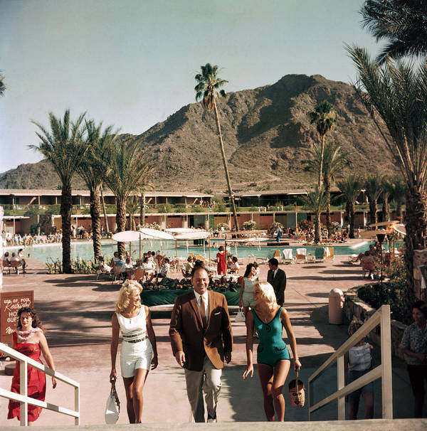 People Art Print featuring the photograph Mountain Shadows Resort by Slim Aarons