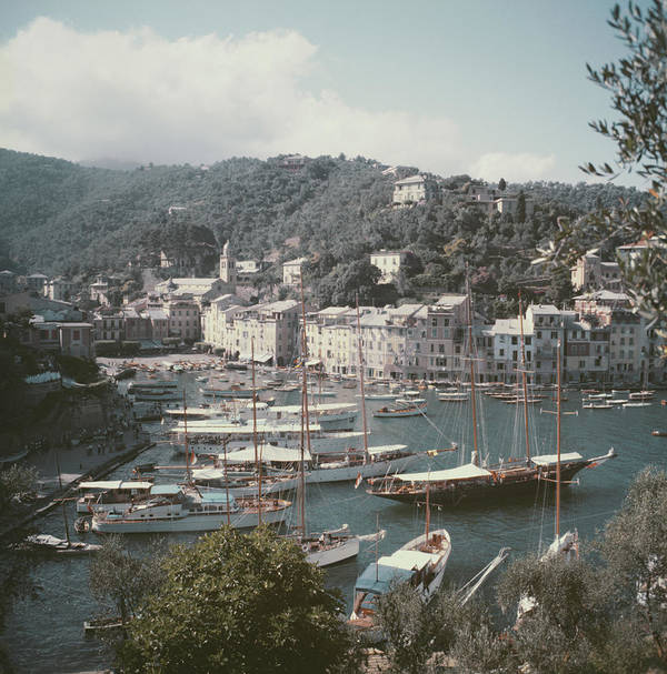 1950-1959 Art Print featuring the photograph Portofino by Slim Aarons