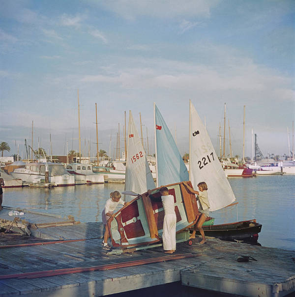 Child Art Print featuring the photograph Sailing Dinghy by Slim Aarons