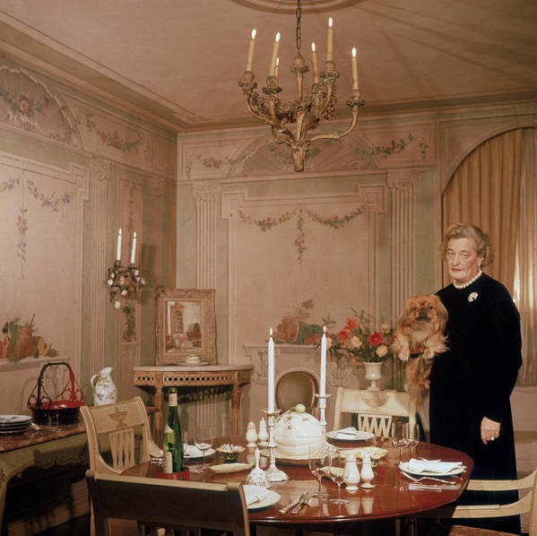 Pets Art Print featuring the photograph Sister Parish by Slim Aarons