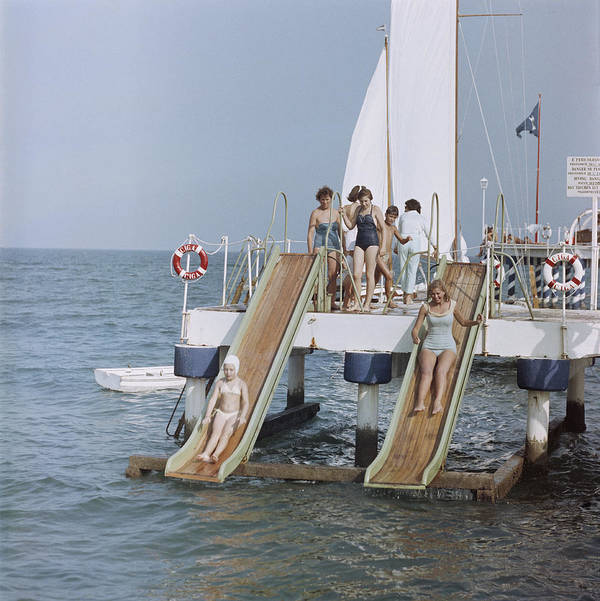 Child Art Print featuring the photograph Venice Vacation by Slim Aarons