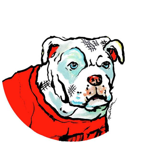 UGA Bulldog Mascot Oil Painting by Kim Guthrie