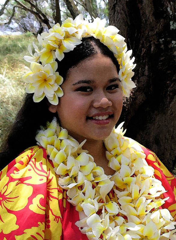 Hawaii Iphone Cases Art Print featuring the photograph Hula Girl by James Temple