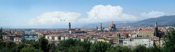 Florence Art Print featuring the digital art The most beautiful city in the world by Harold Shull
