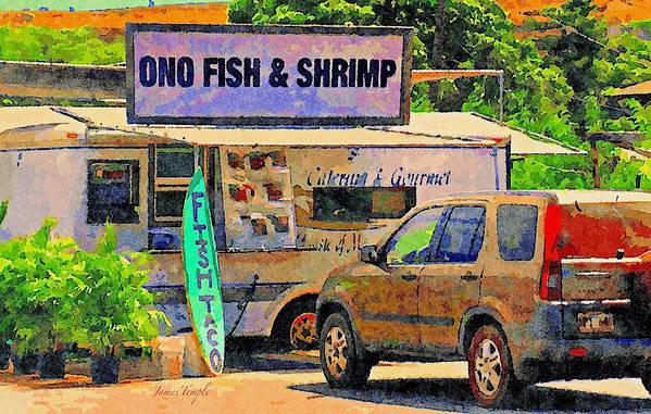 Hawaii Food Truck Art Print featuring the digital art Hawaii Food Truck by James Temple