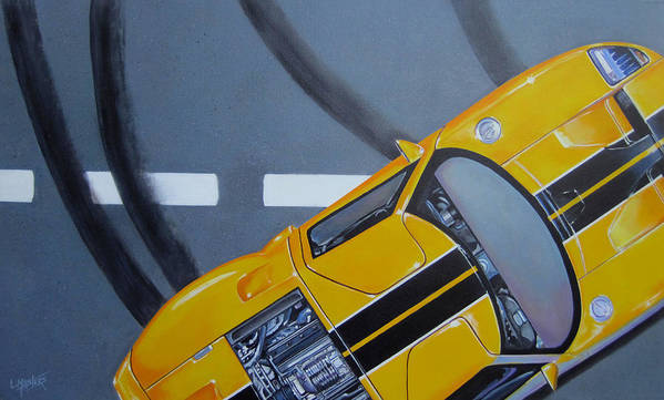 Car Art Print featuring the painting Out For A Spin by Lynn Masters