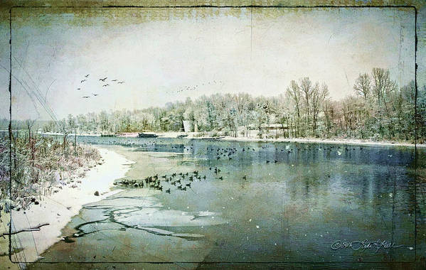 Winter Art Print featuring the photograph Winter on the Hudson No. 2 by Linda Lee Hall