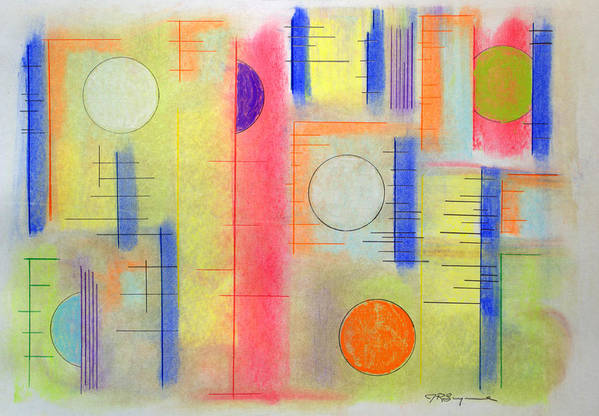 Abstract Art Print featuring the drawing Anytime Of The Day by J R Seymour