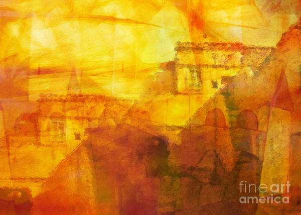 Morocco Art Print featuring the painting Morocco Impression by Lutz Baar