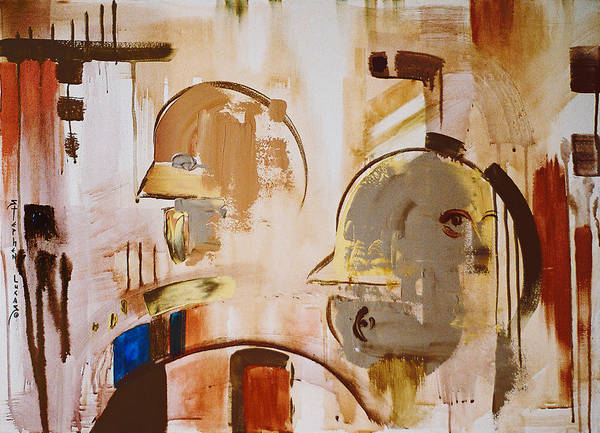 Abstract Art Print featuring the painting What is Identity by Stephen Lucas