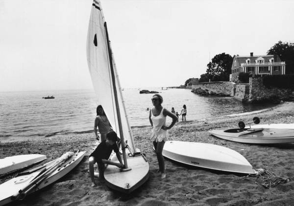 Child Art Print featuring the photograph Sailboat by Slim Aarons