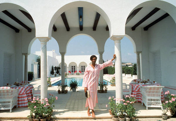 Arch Art Print featuring the photograph Villa In Sotogrande by Slim Aarons